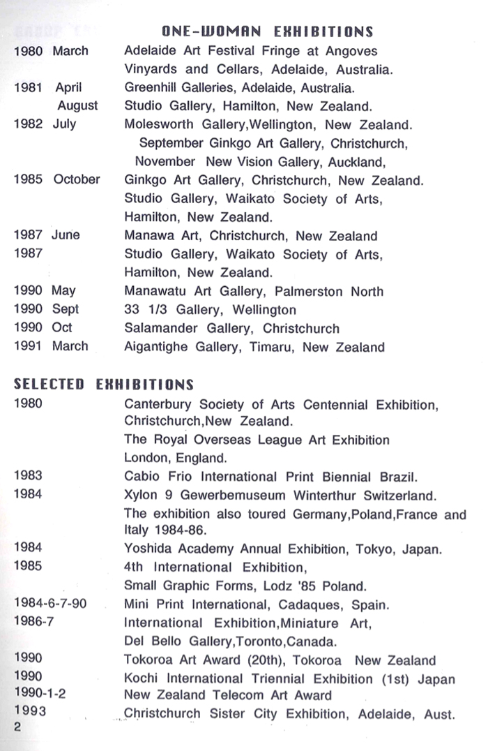 One Woman Exhibitions