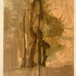 """Sunset"" woodcut,  400mm x 500mm"