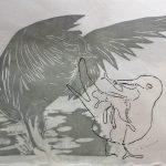 Nga manu (taraiti-Fairy Tern) tiaki nga pepi.